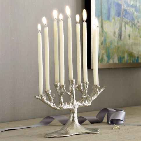 i think this menorah is absolutely beautiful--from west elm.